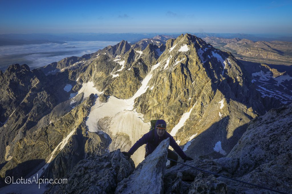 Upper Exum Ridge GrandTeton_2015 (Lotus Alpine w- Exum Guides)-24